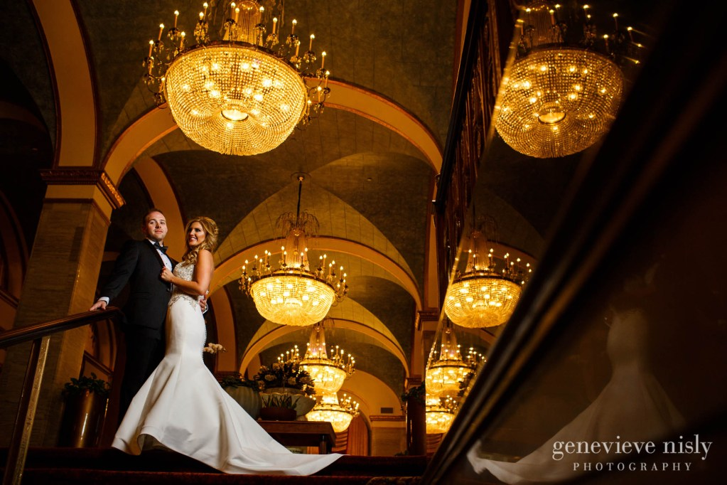Cleveland, Copyright Genevieve Nisly Photography, Ohio, Renaissance Hotel, Wedding, Winter