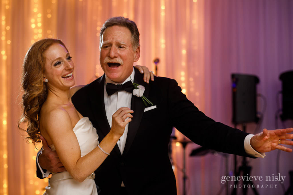 Dana dances with her Dad during the reception at the Ritz Carlton.