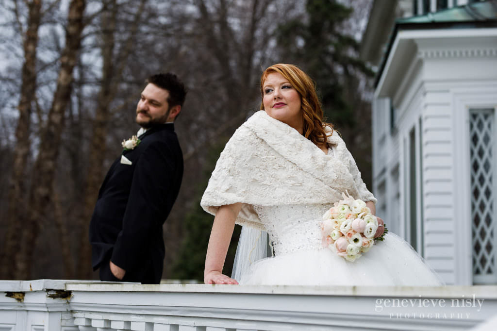 The bride looking stunning with her groom for some portraits at Mooreland Mansion.