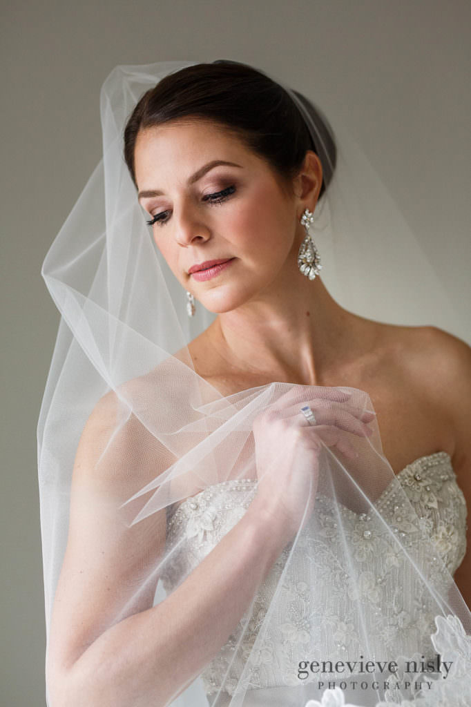 A bridal portrait on Mark and Ellie's wedding day.