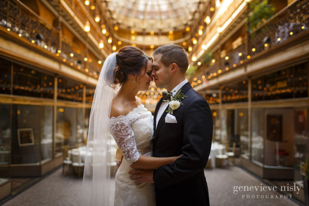 Cleveland, Summer, Wedding, Copyright Genevieve Nisly Photography, Ohio, Hyatt Arcade