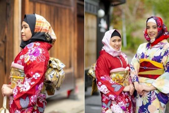 Tudung Wagara Direka Khas Untuk Dipadankan Dengan Kimono Diperkenalkan 2