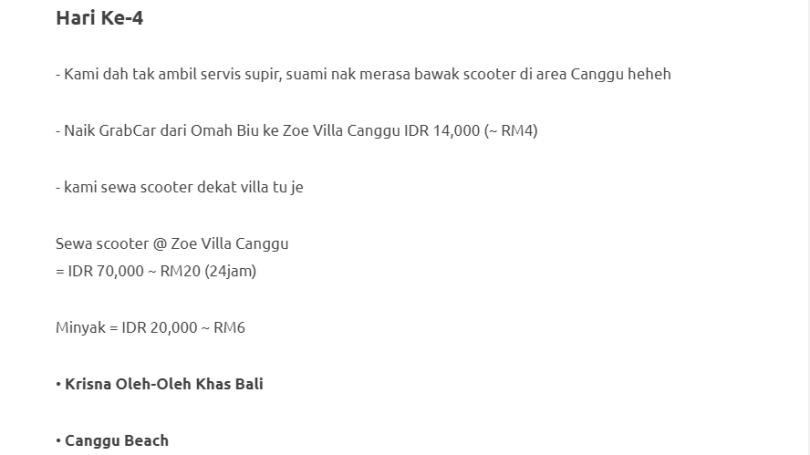 Duduk Di Villa, Private Pool, Gadis Ini Kongsikan Honeymoon Di Bali Dengan Bajet RM1000 Je! 14