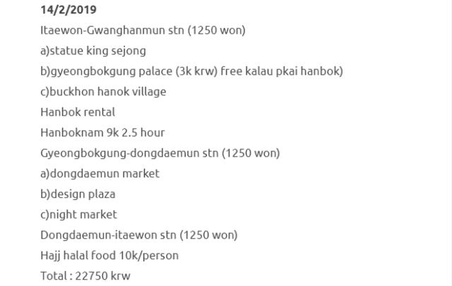 Trip Ke Seoul Dan Jeju Selama 8 Hari Dengan Kos RM1500 Termasuk Flight. Berbaloi Sangat! 8