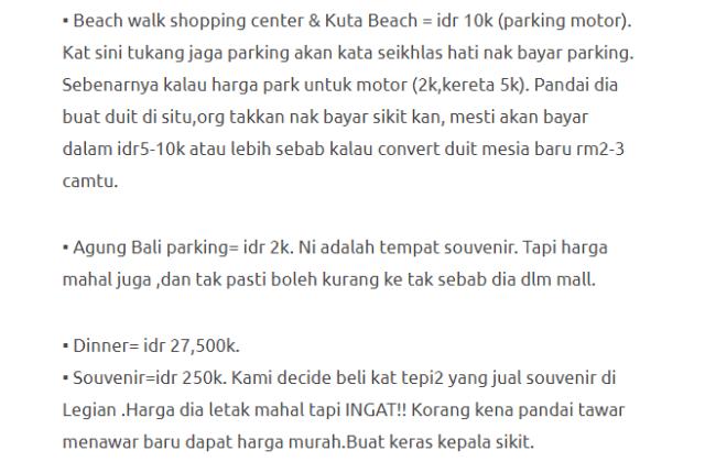 Hanya Berbelanja RM1537 Di Bali & Nusa Penida Untuk 3 Orang. Berbaloi Baloi! 5