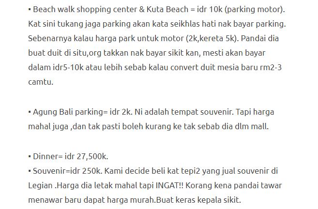 Hanya Berbelanja RM1537 Di Bali & Nusa Penida Untuk 3 Orang. Berbaloi Baloi! 6