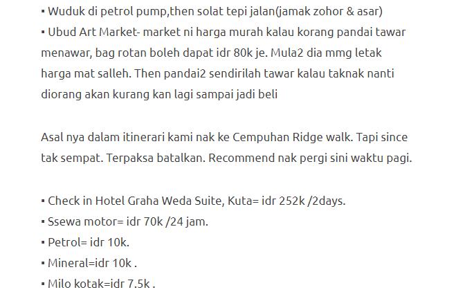 Hanya Berbelanja RM1537 Di Bali & Nusa Penida Untuk 3 Orang. Berbaloi Baloi! 20