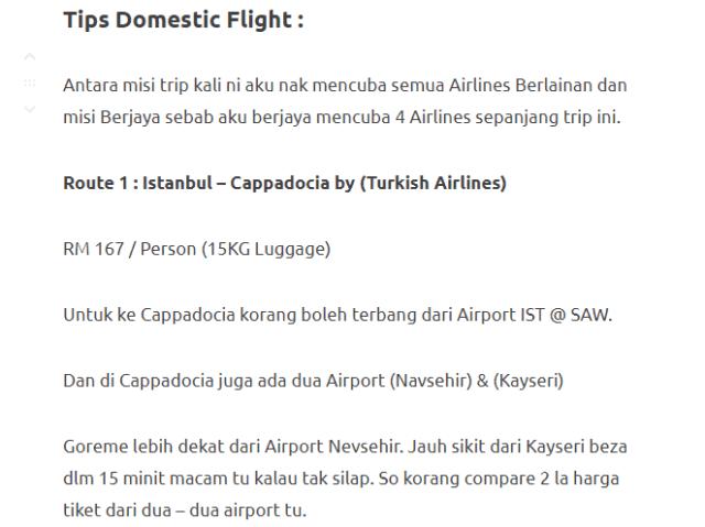 Menjelajahi Turki Selama 11 Hari Dengan Modal Hanya RM3750. Memang Sempoi! 9