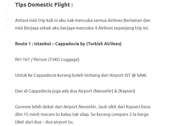 Menjelajahi Turki Selama 11 Hari Dengan Modal Hanya RM3750. Memang Sempoi! 10