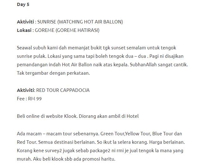 Menjelajahi Turki Selama 11 Hari Dengan Modal Hanya RM3750. Memang Sempoi! 31