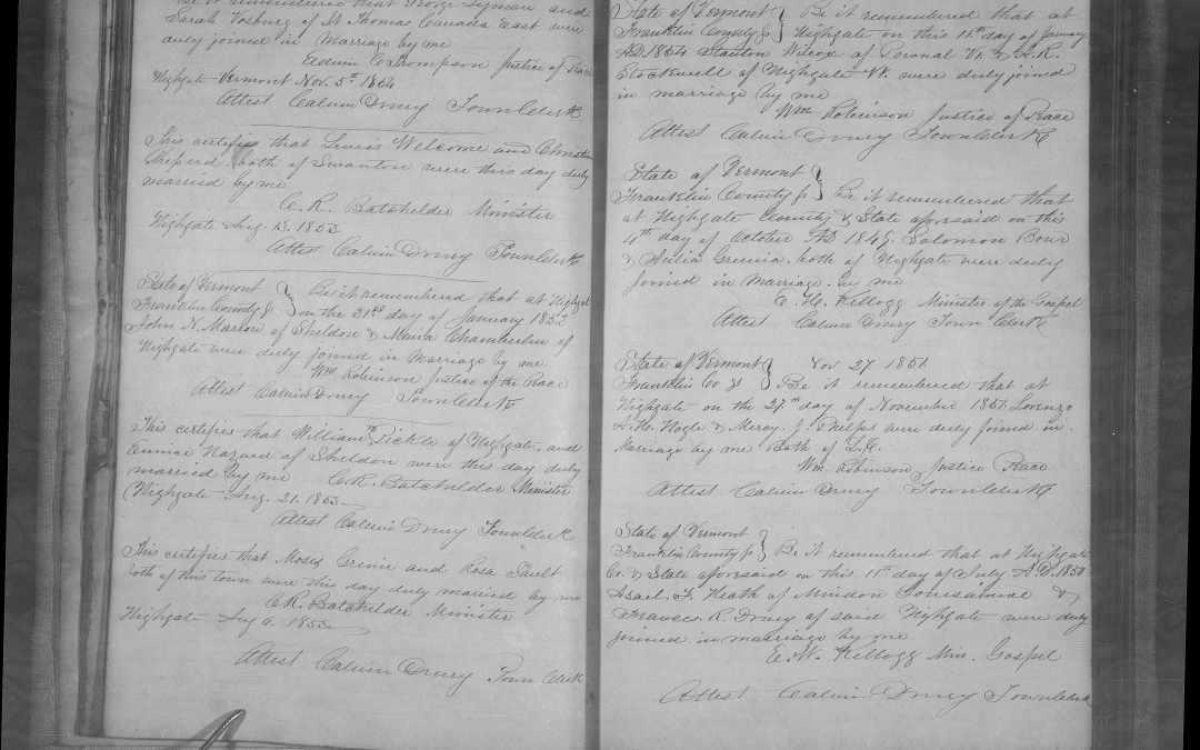 Vermont Vital Records Research