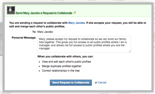 Geni Tips: Send Collaboration Requests