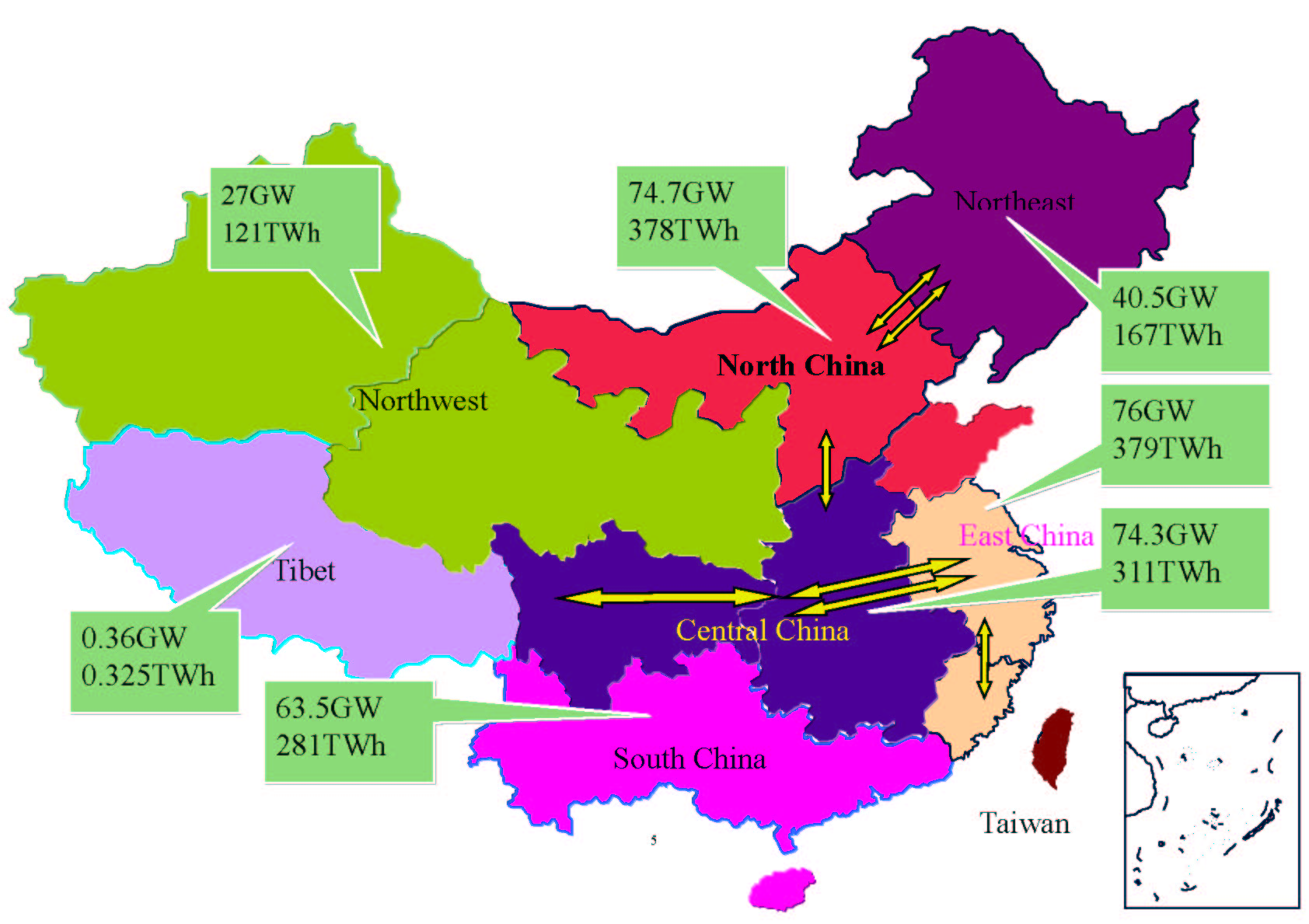 Map Of Chinese Electricity Grid