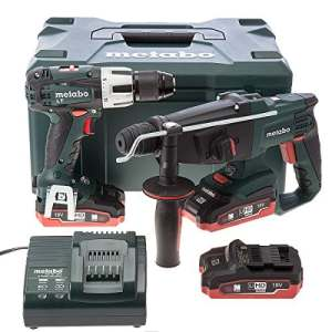 COMBO SB18LT+KHA18LTX Perceuse visseuse à percussion + Perforateur burineur SDS plus 18 V 3,1 Ah