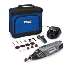 Dremel 8100-1/15 Outil rotatif multi-usage sans fil Li-Ion (7,2V) 1 sac 1 adaptation et 15 accessoires