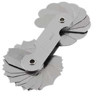 En Métal 8cm Longueur 32Blades R7-14.5mm Rayon Gauge outil de mesure