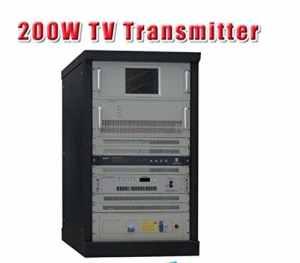 GOWE 200w TV numérique DVB-T territoriale transmetteur professionnel pour la diffusion TV Station