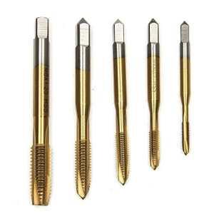 Hakkin 5pcs M3-M8 HSS spirale point de dérivation flûte droite machine de titane métrique taraud 5 Types de normes M3 M4 M5 M6 M8, Peuvent répondre à une Variété de Besoins,Convient pour le Traitement de Bois, de Plastique et de tôle.