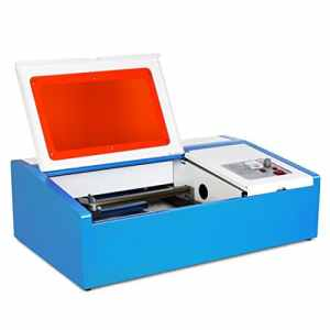 HPcutter Machine Laser à Graver Laser Gravure Co2 Laser Engraving Machine 40W Liaison Ordinateur par Port USB (40W)