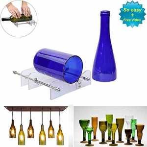 LANMU DIY coupe Bouteille de vin en verre lavable en pot Craft Machine Kit de recyclage Outil