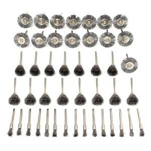 Mohoo 45 PC Fil d'acier brosse métallique de forage brosses Dremel accessoires pour outils rotatifs