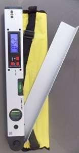 Niveau à bulle numérique mesureur d'angles 400mm (16″) – Version grande taille. Rapporteur métrique – housse de transport souple offerte