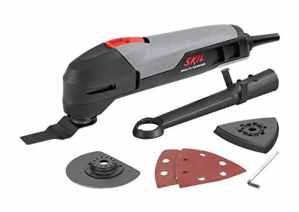 Skil 1470AA Outil Multifonction Oscillant (200W, Raccord pour Aspirateur, Plateau de Ponçage, 4 feuilles abrasives et Lame)