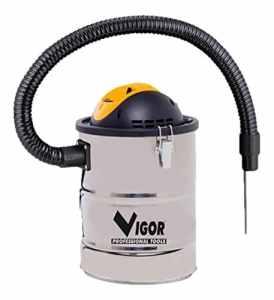 Vigor Aspir-El Aspirateur bidon en acier inoxydable pour cendres 15l 800W