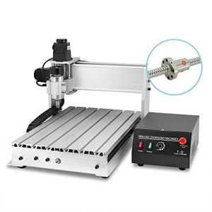 Happybuy Machine de Gravure 3 Axes Vis à Bille 3040T-DQ Gravure Machine avec USB fonction Routeur CNC 300 mm x 400 mm Routeur Gravure Machine de Fraisage (3 Axes 3040T-DQ avec USB fonction)