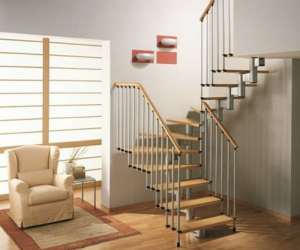 Mister Step escalier à jour en UNIVERSAL MAXI «U» modulaire 228-306 cm Hauteur totale.