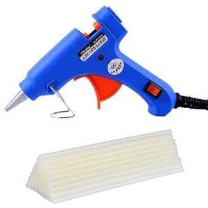 Ohuhu® Pistolet à Colle Chaude avec 25 pcs Melt Bâtons de Colle Outil Compact Accessoire de Réparation avec la Prise de l'UE