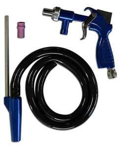 Asturo Pistolet pour sablage 3147500 semi-professionnel Kit PS 2 Bleu/Argent