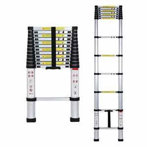 Lifewit Échelle Télescopique Extensible en Aluminium 3,8m Multifonctionnel Capacité de 150kg