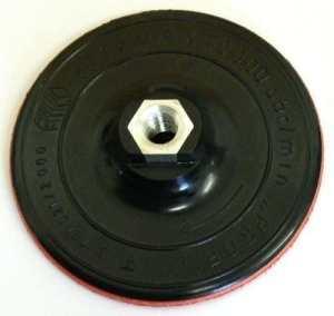 Plateau porte-outils D 125mm x M14 Velcro , Pour Meuleuses D'angle , Meules abrasives , Disques velcro