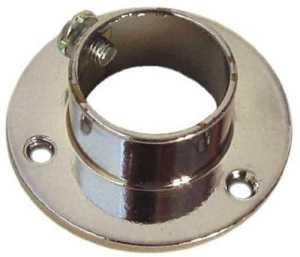 Support en plastique latéral pour armoire ronde bague en laiton finition Ø 20 mm