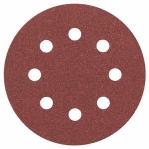 Bosch 2608605106 Disque abrasif pour ponceuse excentrique Ø 115 mm 8 Trous Grain 120 5 pièces