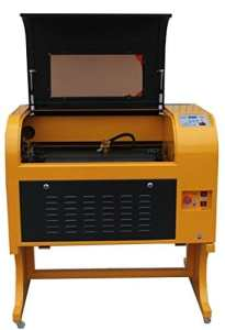 TEN-HIGH Upgraded Version CO2 400x600mm 60W 220V Laser Engraving Cutting Machine with USB port,Include rotary axis