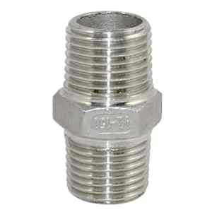 1/5,1cm mâle X 1/5,1cm mâle hexagonale Mamelon en acier inoxydable 304Raccord de tube fileté NPT
