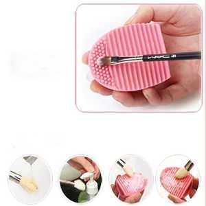 Bonjouree Gant de Nettoyage Pour Pinceaux en Silicone Outils de Nettoyage à Pinceaux de Maquillage