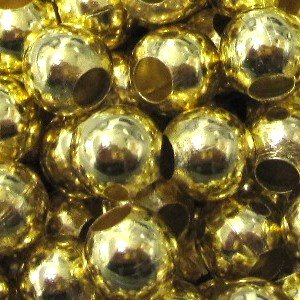 100 pieces 6mm Gold Plated Metal Spacer Beads – A6761 by k2-accessories Jewellery Findings