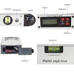 AUA Rapporteur numérique 0 °~225 °, Viseur d'angle avec écran LCD, angle de 400 mm/40,6 cm Outil de mesure de niveau pour vertical horizontal Niveau à bulle