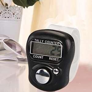 Danyoun Compteur numérique pratique Mini électronique doigt Bague Digit point de marqueur LCD Digital Compteur manuel avec sangle de bague réglable, convient pour Différentes occasions, l'utilisation à domicile, à l'école, au bureau, les activités sportives (Noir)