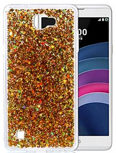 LG X5 Coque, LG X Max, Nnopbeclik® Soft/Doux Silicone Transparente « paillette brillant » Backcover Housse (5.5 Pouces) Antiglisse Anti-Scratch Etui – [Or]