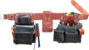 Occidental Leather B5080DB XXL Ceinture porte-outils à 2 sacs Noir TailleXXL