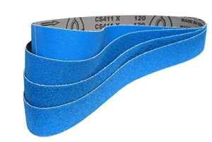 Set de 4Pièces Premium Klingspor bande abrasive cs411x | 50x 1000mm | Zirconium corindon–Une je la bande des grains 40,60,80et 120