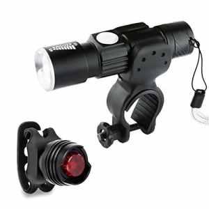 3 Lots Kit Lampe Torche Étanche Avant Vélo LED, MORECOO Lampe de Poche USB Rechargeable 5 Modes d'Antichoc Anti-dérapant, Phare Lampe Bicyclette et Feu Arrière pour VTT VTC Cycliste Camping Loisir [Classe énergétique A+]