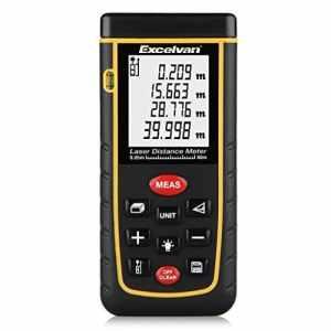 Excelvan Télémètre Laser LCD Mètre Laser Numérique Portable Noir
