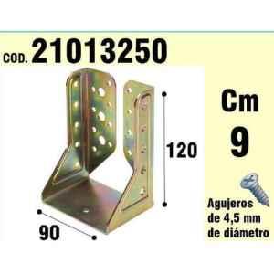 Support pour bois ailes intérieures bichromaté 90mm