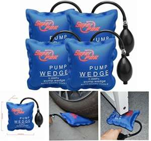 4 Pcs Air Wedge Super PDR Pompe à air Coussin gonflable en Plastique Air Pump Wedge Up Outil Alignement Outil Inflatable Shim Coussiné Puissant