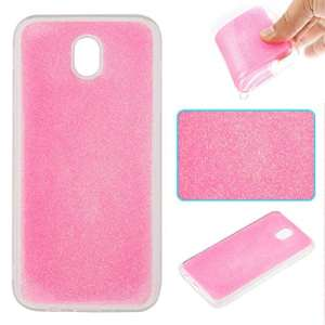 Coque Samsung Galaxy J7 2017 , Coque Samsung Galaxy J7 2017 Rose, Cozy Hut Samsung Galaxy J7 2017 Coque Paillette Strass Brillante Bling Bling Glitter de Luxe, Housse Etui de Protection Silicone [Ultra Fine] [Anti Choc] pour Samsung Galaxy J7 2017 / J730F – Rose